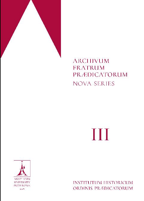 Archivum Fratrum Praedicatorum